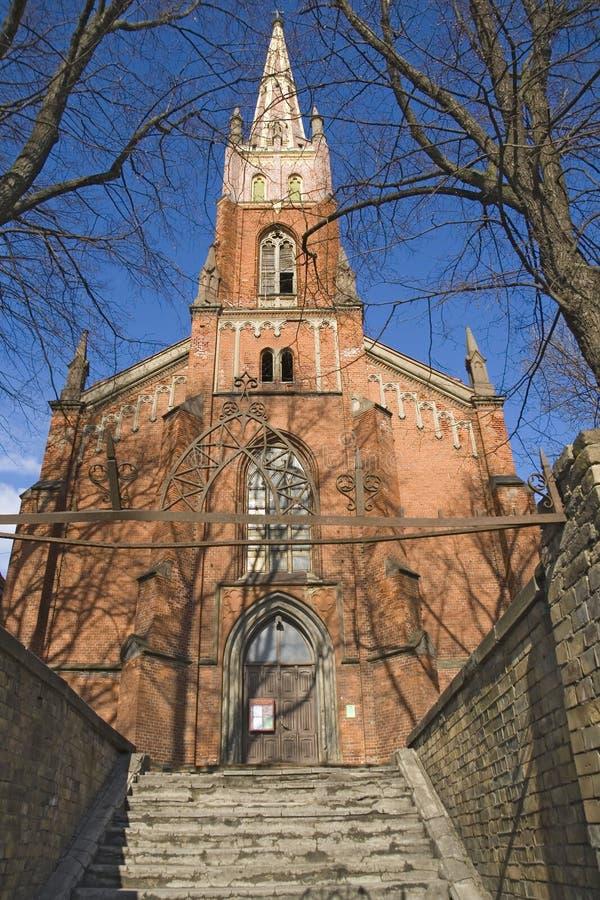 Anglican church in Riga, Latvia stock image