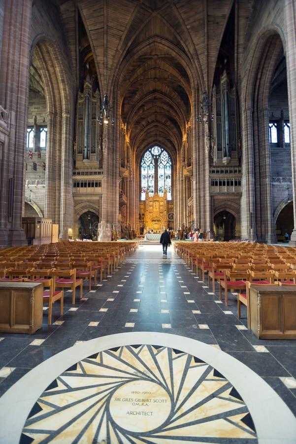 anglican katedra Liverpool zdjęcia royalty free