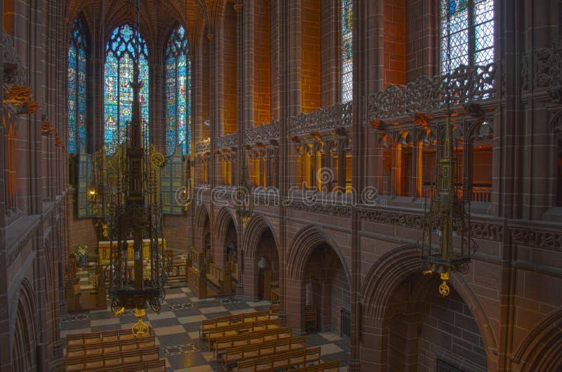 anglican katedralny children Liverpool okno zdjęcie royalty free