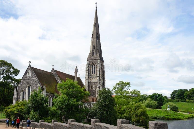 anglican kyrkliga copenhagen arkivbild
