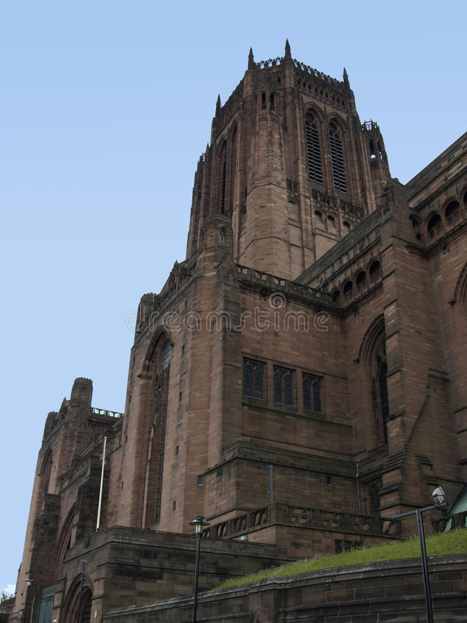 anglicandomkyrka liverpool arkivfoto