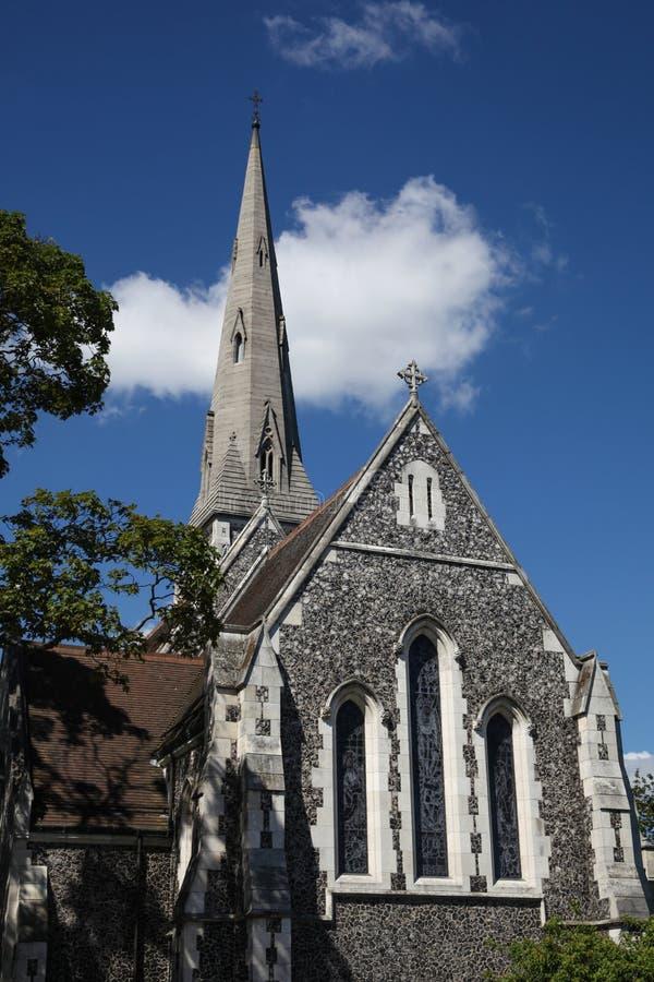 Anglikansk kyrka för St Alban s, Köpenhamn fotografering för bildbyråer