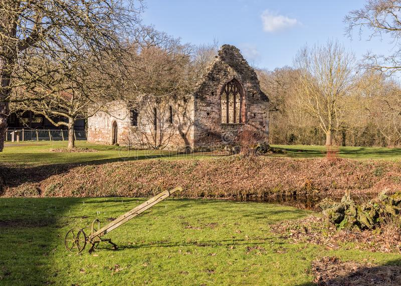 Anglonormańska kaplica, Brockhampton rezydencja ziemska, Herefordshire, Anglia obrazy royalty free