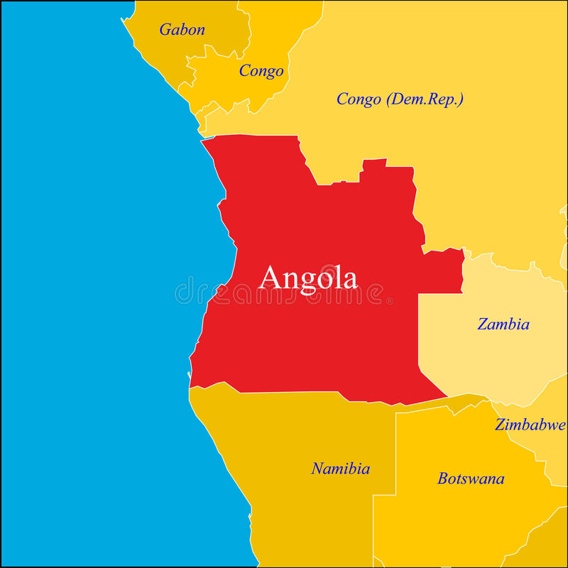 angola översikt vektor illustrationer