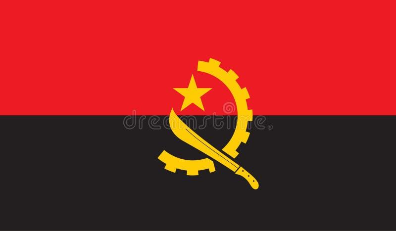 Angola flaga wizerunek ilustracja wektor