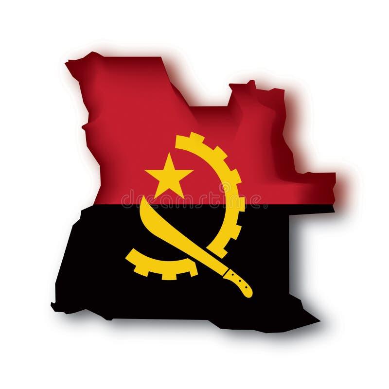 angola flaggavektor stock illustrationer