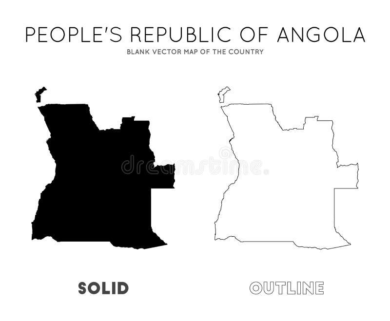 Angola mapa ilustracji