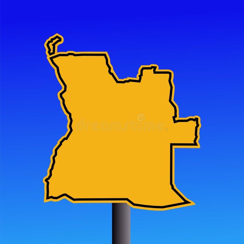 angola mapy znak