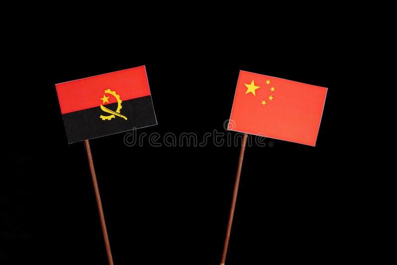 Download Angolanische Flagge Mit Der Chinesischen Flagge Lokalisiert Auf Schwarzem Stockfoto - Bild von hintergrund, konkurrenz: 96931638