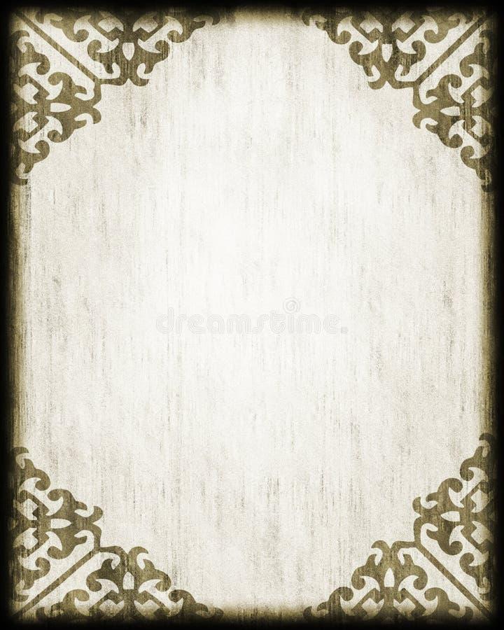 Angoli antichi del merletto del documento di stile illustrazione di stock