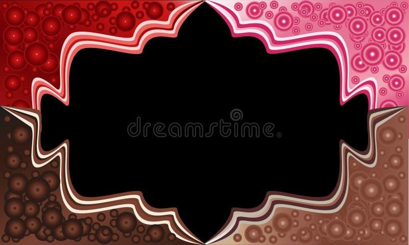 Angoli del dolce con le palle del cioccolato Cioccolato, fragola, velluto rosso Pacchetto di vettore fotografia stock libera da diritti