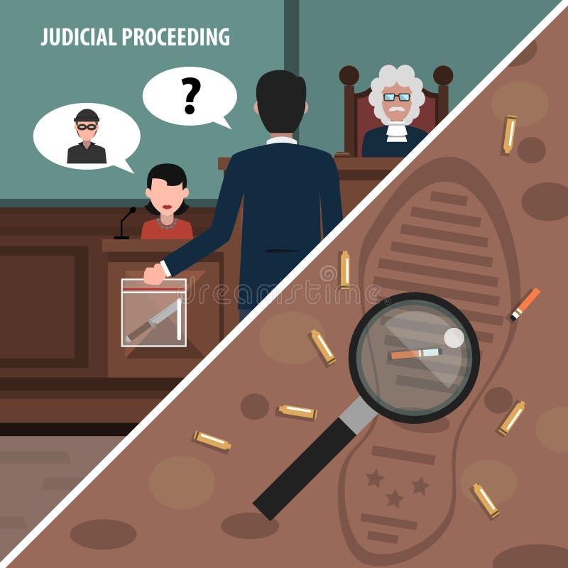 Angoli di legge messi illustrazione di stock