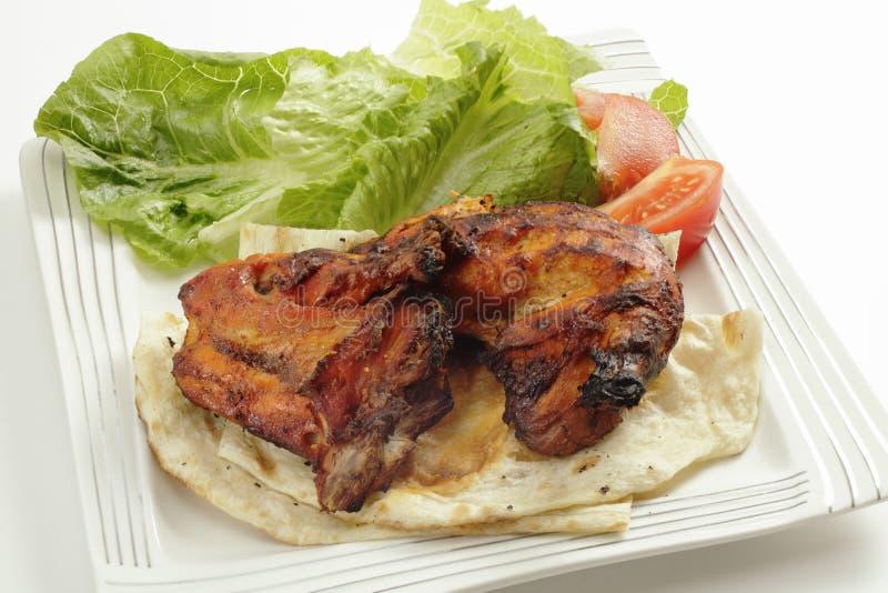 Angolo alto del pollo di Tandoori immagini stock