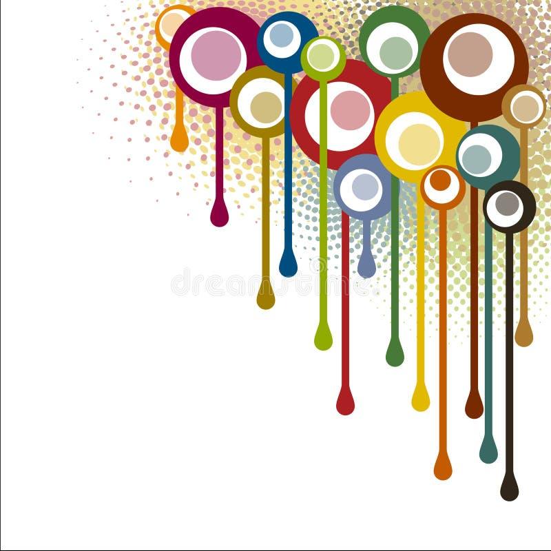 Angolo astratto dei punti delle vernici illustrazione di stock