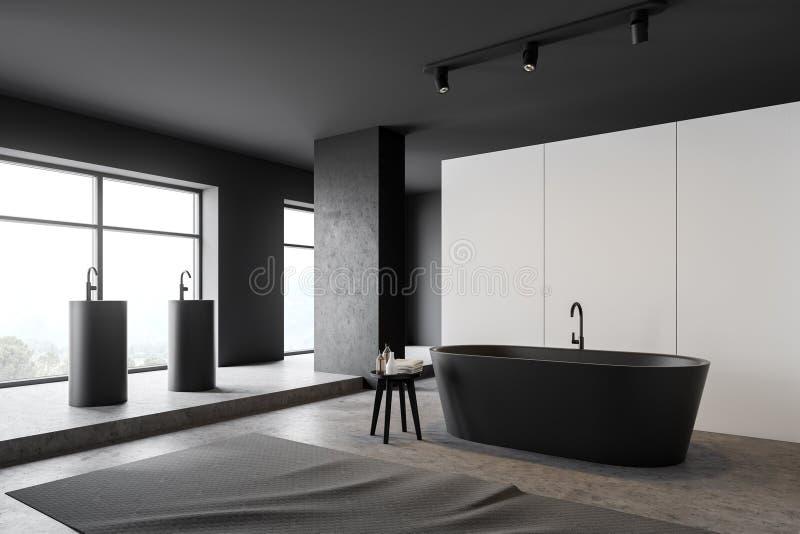 Angolo bianco e grigio del bagno royalty illustrazione gratis