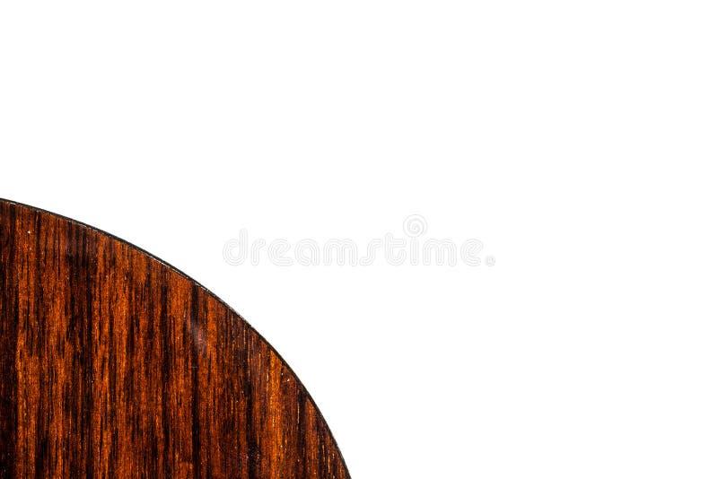 Angolo del corpo della chitarra indietro su fondo bianco fotografia stock