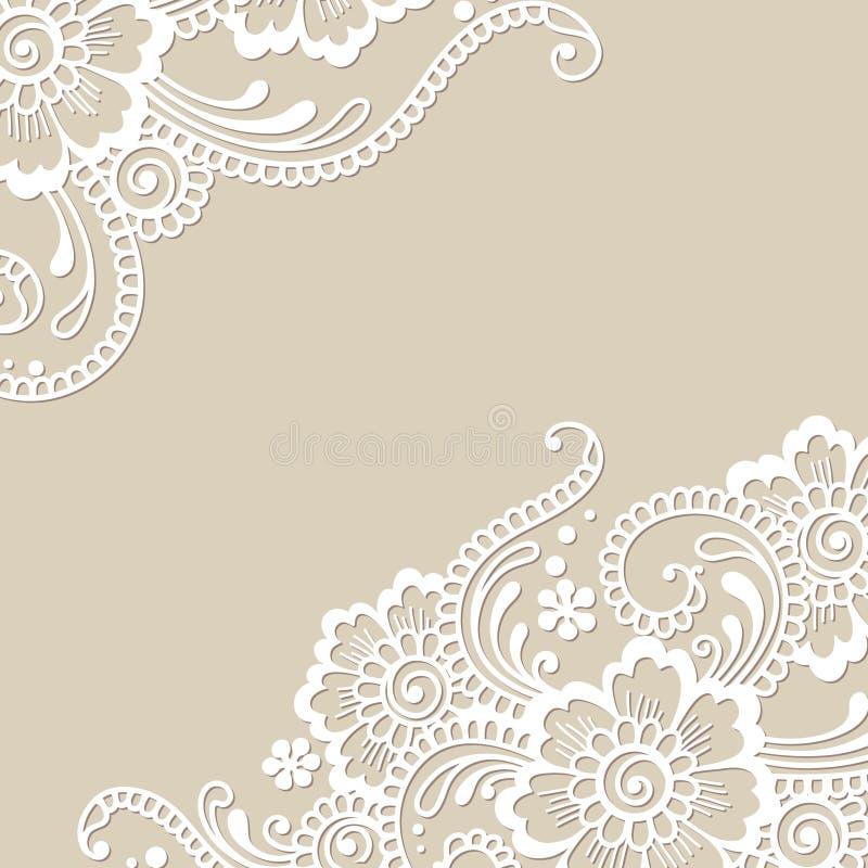 Angolo dell'ornamento di vettore del fiore royalty illustrazione gratis
