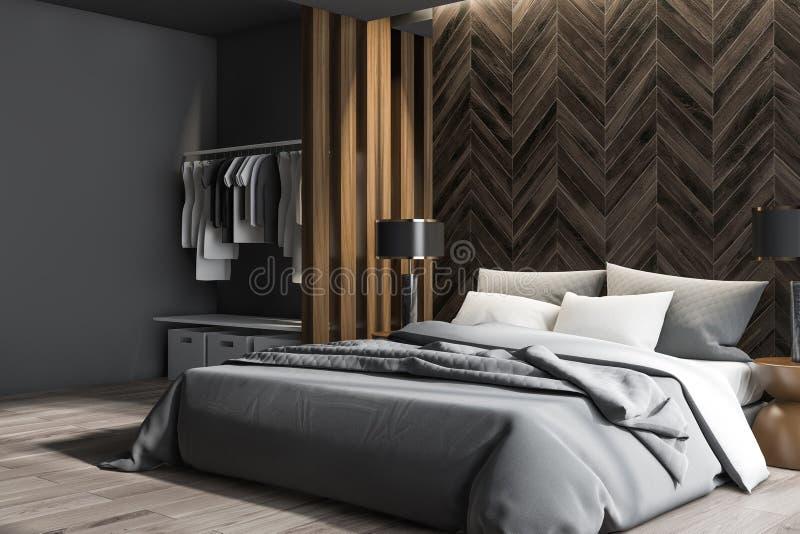 Angolo della camera da letto principale con il guardaroba illustrazione vettoriale