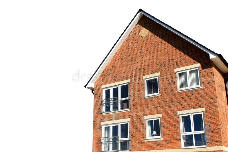 Angolo della casa moderna isolato immagine stock