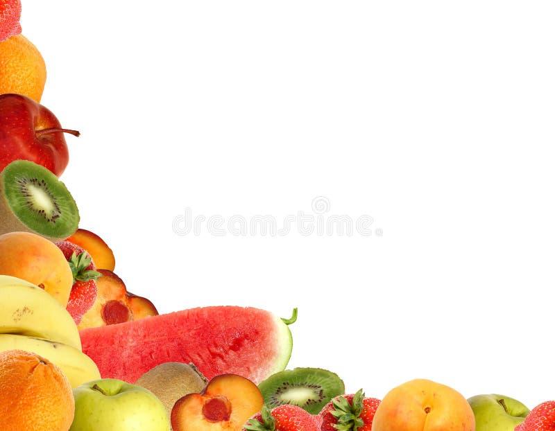 Angolo della frutta fotografie stock