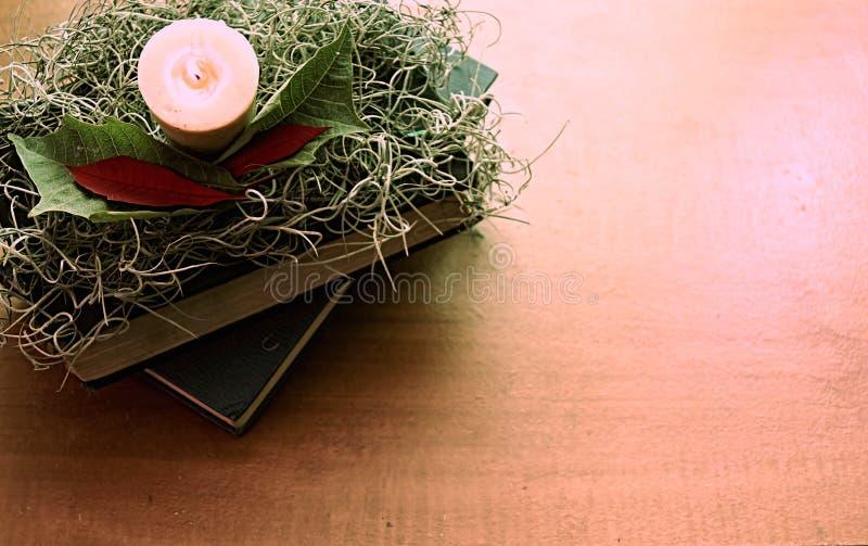 Angolo della lettura di Natale fotografia stock libera da diritti