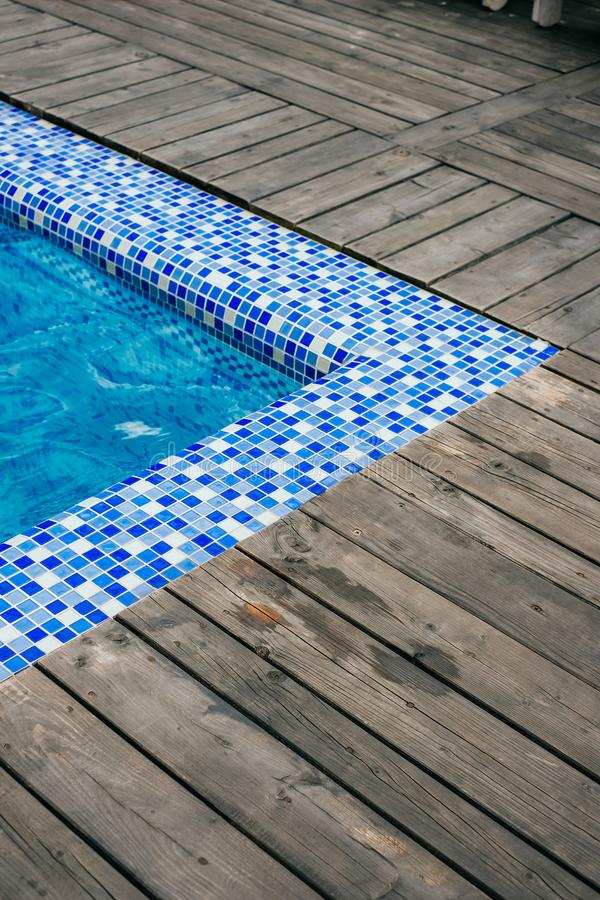 Angolo della piscina fotografia stock