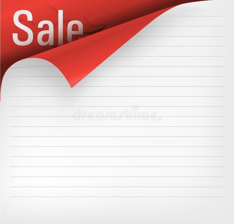 Angolo di carta illustrazione di stock