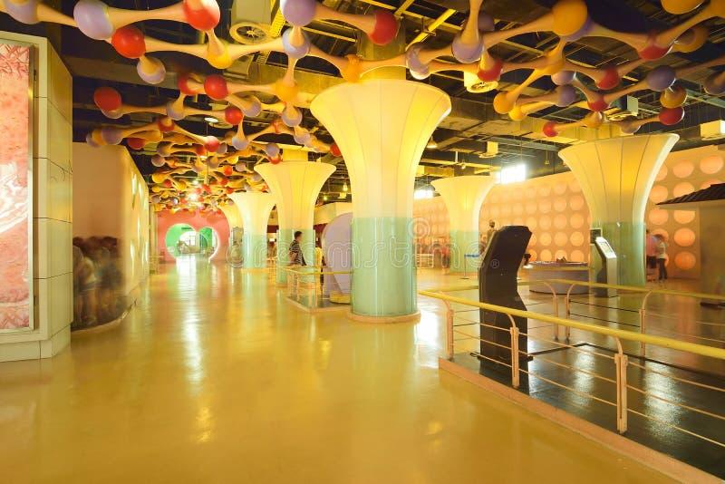 Angolo di Chengdu Cina-Un del museo di scienza e tecnologia immagini stock