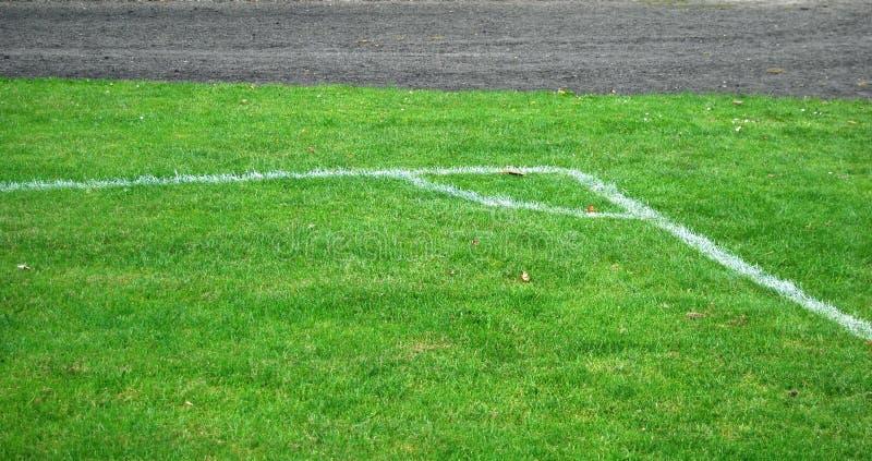 Angolo di gioco del calcio fotografia stock libera da diritti