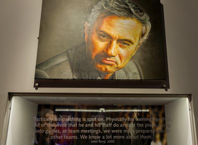 Angolo di Jose Mourinho fotografia stock libera da diritti