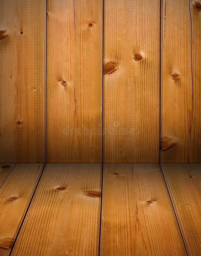 Angolo di legno del legname fotografia stock