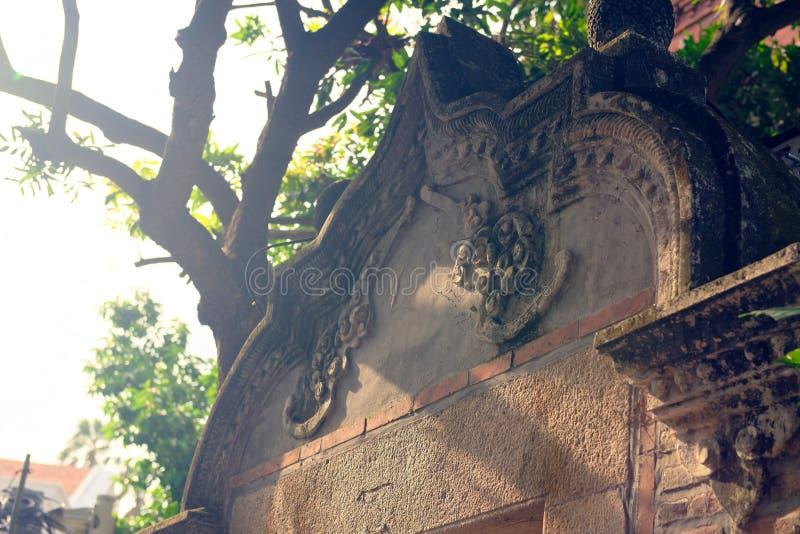 Angolo di scultura- di pietra fine dell'isola-Kulangsu fotografia stock libera da diritti
