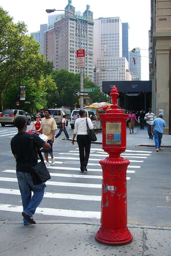 Angolo di strada di New York immagine stock