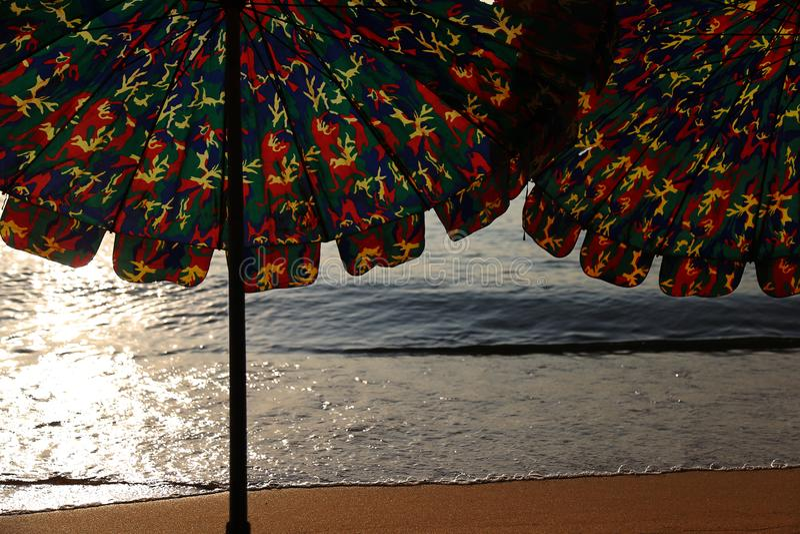 Angolo differente della spiaggia fotografie stock