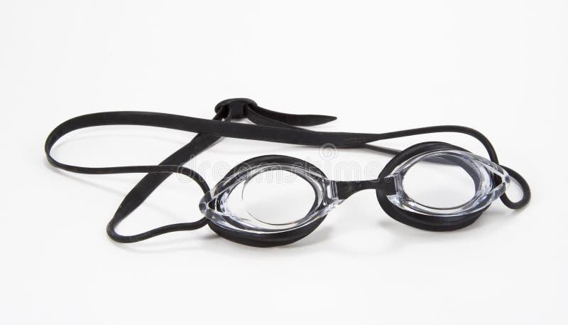 Angolo nero degli occhiali di protezione di nuoto fotografia stock libera da diritti