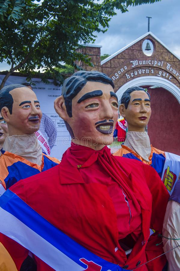Higantes festival 2018. ANGONO , PHILIPPINES - NOV 22 : Higantes in the Higantes festival in Angono Philippines on November 22 2018. Higantes are giant paper royalty free stock images