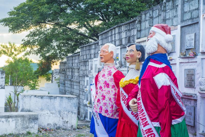 Higantes festival 2018. ANGONO , PHILIPPINES - NOV 22 : Higantes in the Higantes festival in Angono Philippines on November 22 2018. Higantes are giant paper royalty free stock photo