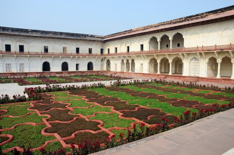 Angoori Bagh o giardino dell'uva, fortificazione di Agra, India fotografia stock libera da diritti
