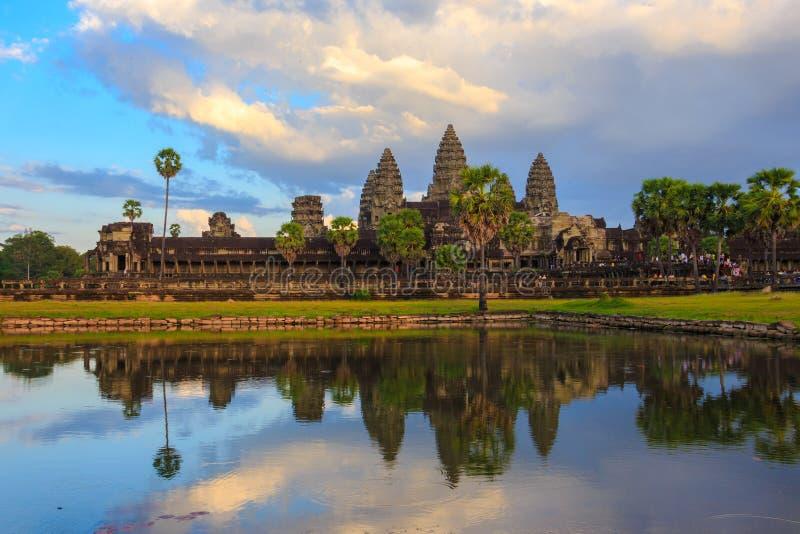 Angor Wat,古老建筑学在柬埔寨 图库摄影