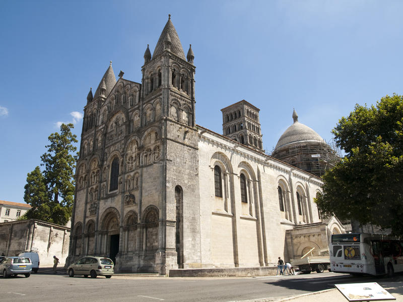 Angouleme Cathedral stock photography