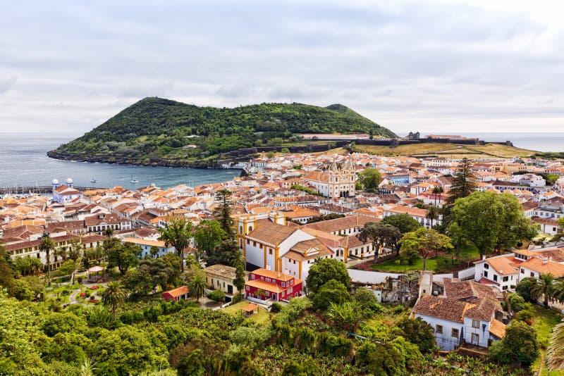 Angra做Heroismo, Terceira海岛,亚速尔群岛 库存图片