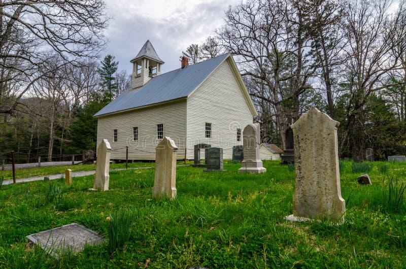 Angra Baptist Church primitivo de Cades, Great Smoky Mountains imagem de stock royalty free