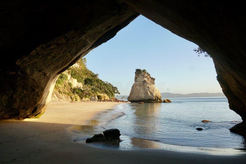 Angra da catedral de Nova Zelândia fotografia de stock