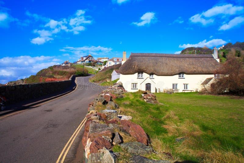 A angra da esperança é uma vila de beira-mar pequena dentro da paróquia civil de Huish sul no distrito sul dos presuntos, Devon fotografia de stock royalty free