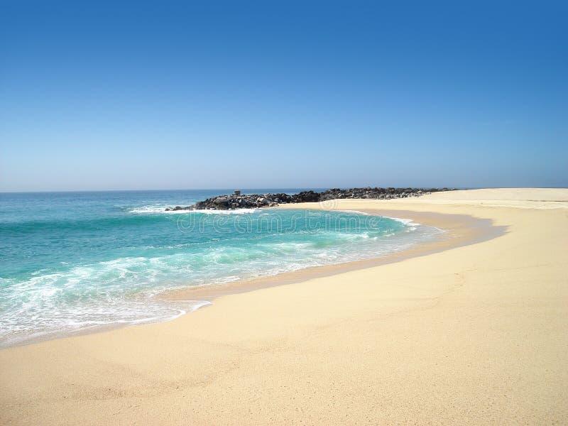 Angra da praia isolada fotos de stock
