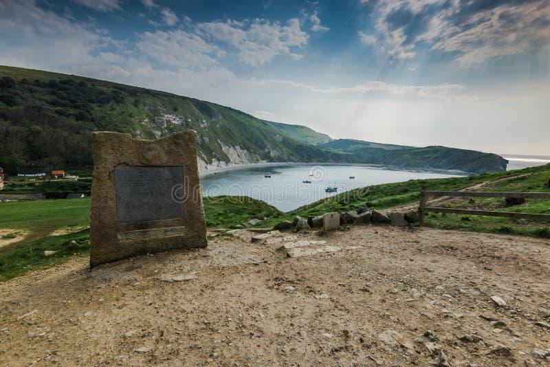 Angra de Lullworth na costa de Dorset, Reino Unido fotografia de stock royalty free