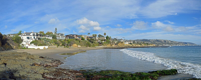 Angra de Shaws, Laguna Beach, Califórnia foto de stock royalty free