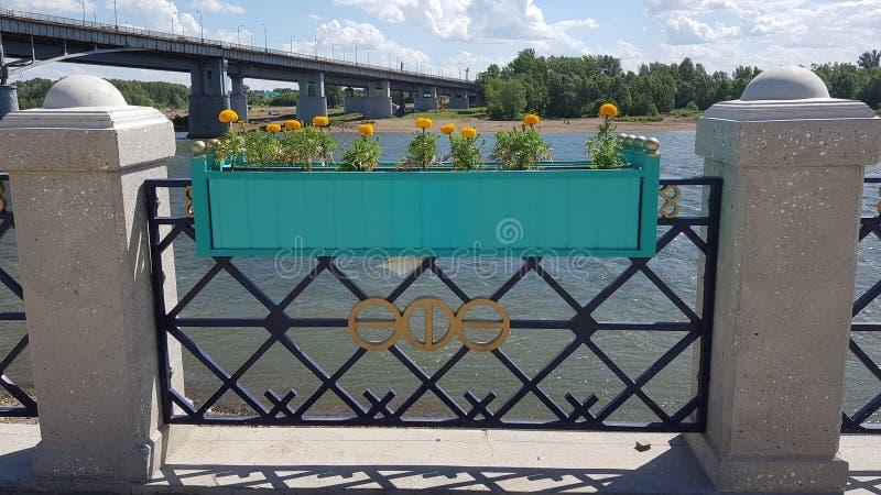 Angra do rio na cidade de Ufa foto de stock royalty free