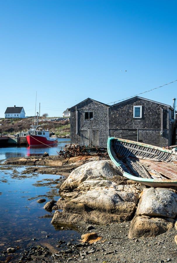Angra do `s de Peggy, Nova Escócia imagens de stock royalty free