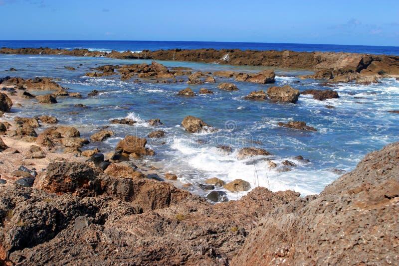 Angra do tubarão, Havaí imagens de stock